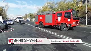 Ողբերգական ավտովթար Երևանում  Թբիլիսյան խճուղում ճակատ–ճակատի բախվել են Nissan ն ու 06 ը