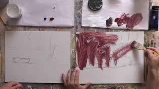Мазковая техника акрилом.  Урок № 5.  Уроки с Катериной