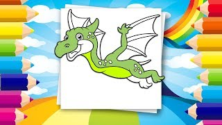 Educational Coloring pages for kids | Learn how to paint and draw dinosaurs