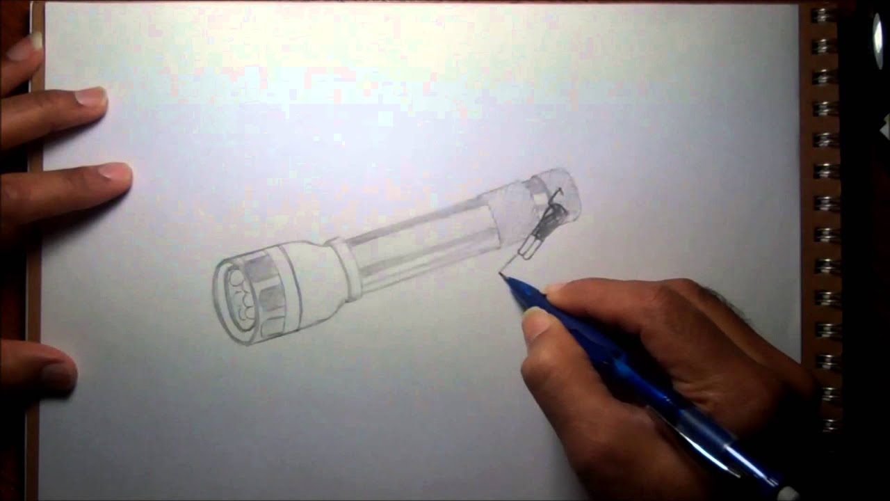 3d Object Drawing Flash Light Youtube
