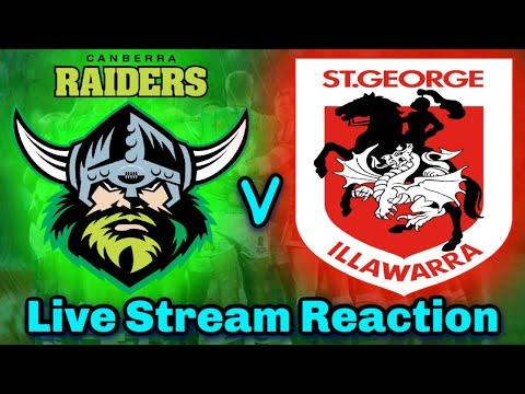 Canberra Raiders V St George Illawarra Dragons | NRL Round 8 - Live Stream | Reaction