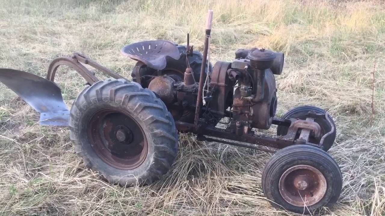 1941 Speedex Model B Antique Garden Tractor   YouTube