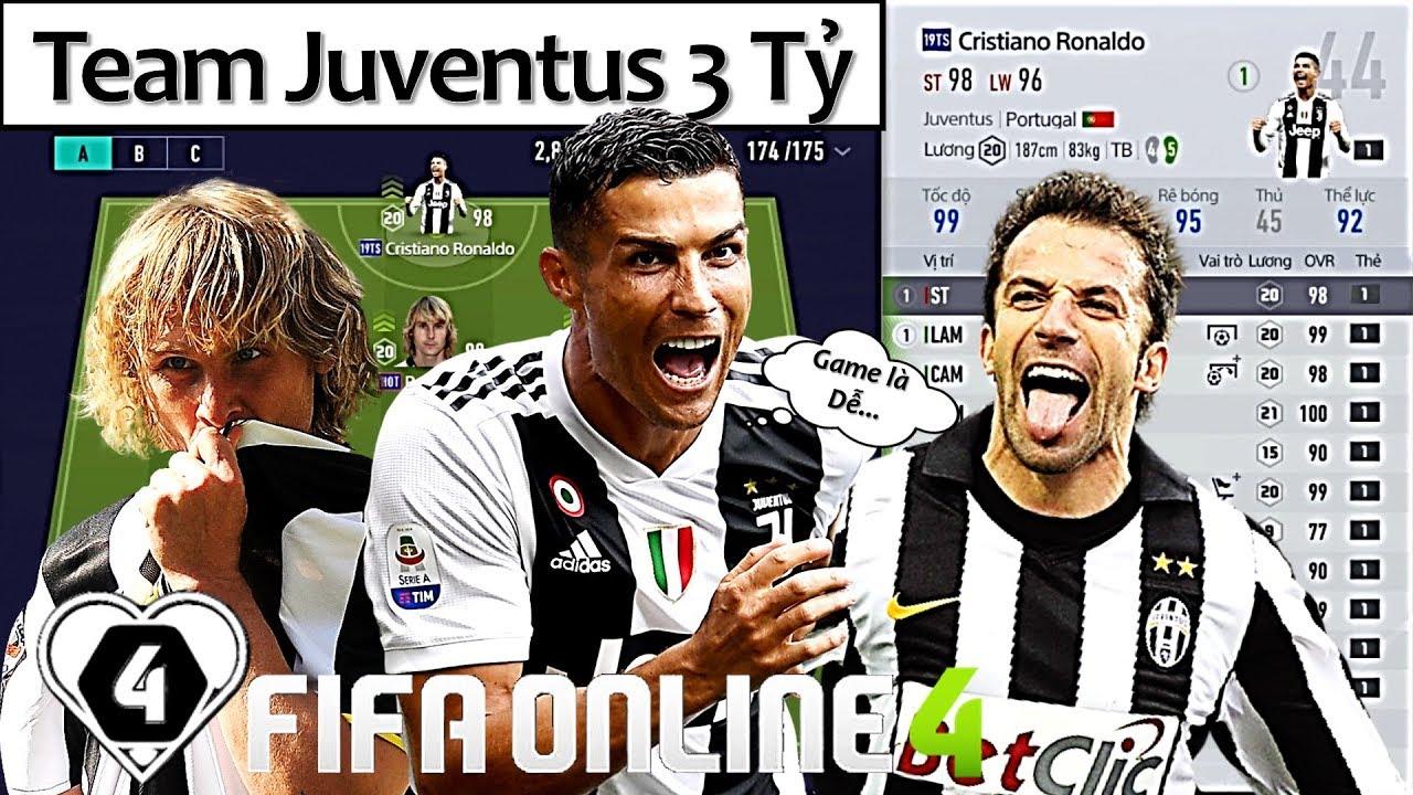 """Xây Dựng & Trải Nghiệm Đội Hình """" JUVENTUS 3 TỶ """" XUẤT SẮC NHẤT Với Chim Đầu Đàn C. Ronaldo 19TS"""