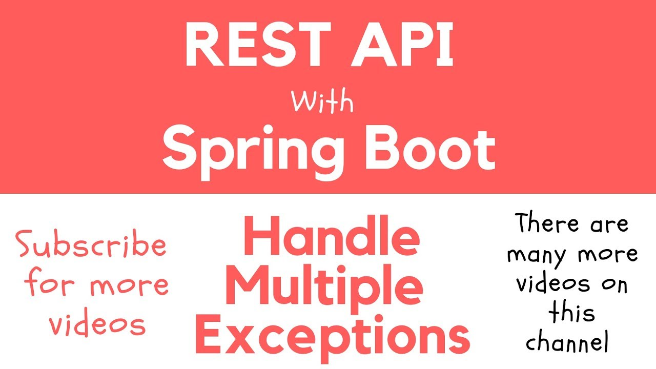 Handle Exceptions in Spring Boot RESTful Service - Apps
