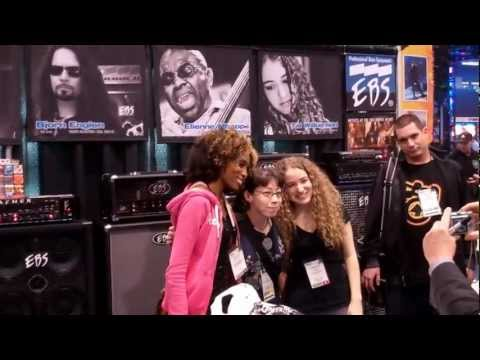 Tal Wilkenfeld + Jackson Browne @ Namm Show 2012 Pt. 1