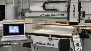 Routing Melamine Cabinets At 1200ipm On A C.r. Onsrud Router