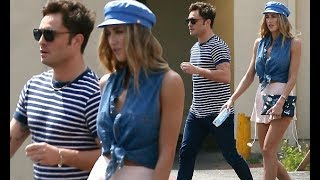 Ed Westwick joins girlfriend Jessica Serfaty for lunch in LA
