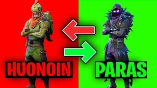 FORTNITE TOP 10 PARHAAT SKINIT! - PROVIDED SUOMI