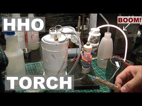 DIY HHO Generator Torch - It Kinda Works! - ElementalMaker
