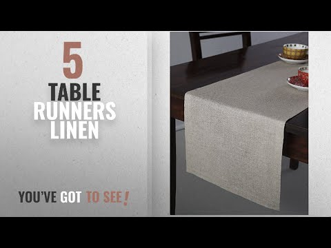 Best Table Runners Linen [2018]: 100% Pure Linen Table Runner Athena, Natural Fabric Handcrafted