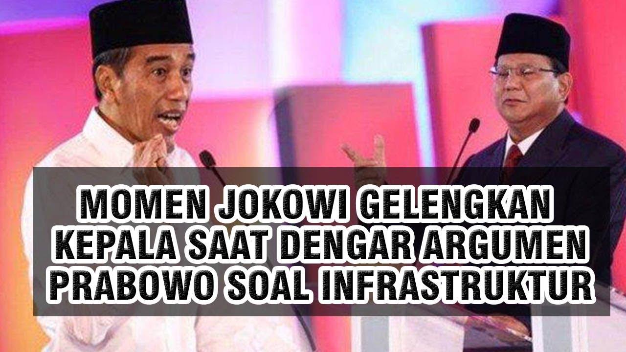Video Momen Jokowi Gelengkan Kepala saat Dengar Pendapat Prabowo soal Infrastruktur di Indonesia