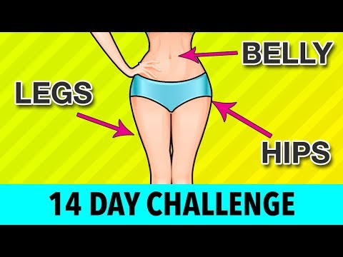 14-DAY Legs + Belly + Hips Challenge - Home Exercises