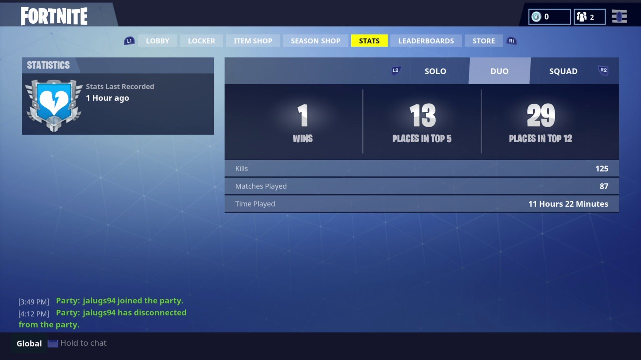 How To find Fortnite stats On Ios graphics