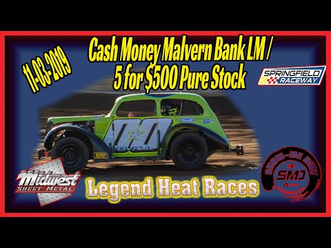 Legend Cars racing Heat Races Springfield Raceway 11➜03➜2019  Dirt Track Racing
