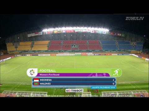 Indonesia vs Maladewa Sepak Bola Putri Asian Games 2018