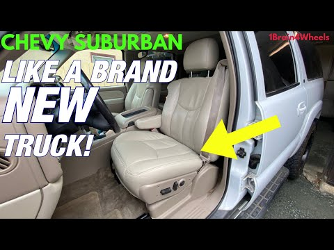 How to Replace Chevy Suburban / Tahoe, GMC, Cadillac, & Hummer Seat Covers / Heaters