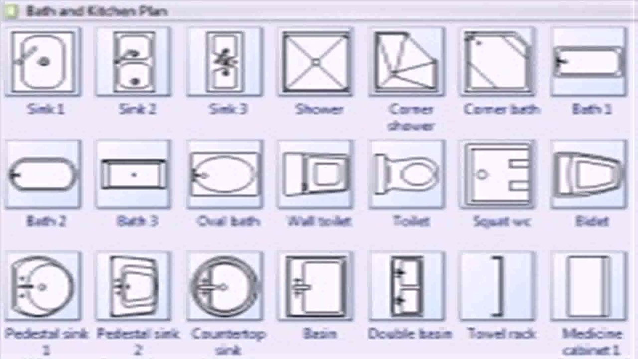 Different Kitchen Floor Plan Symbols