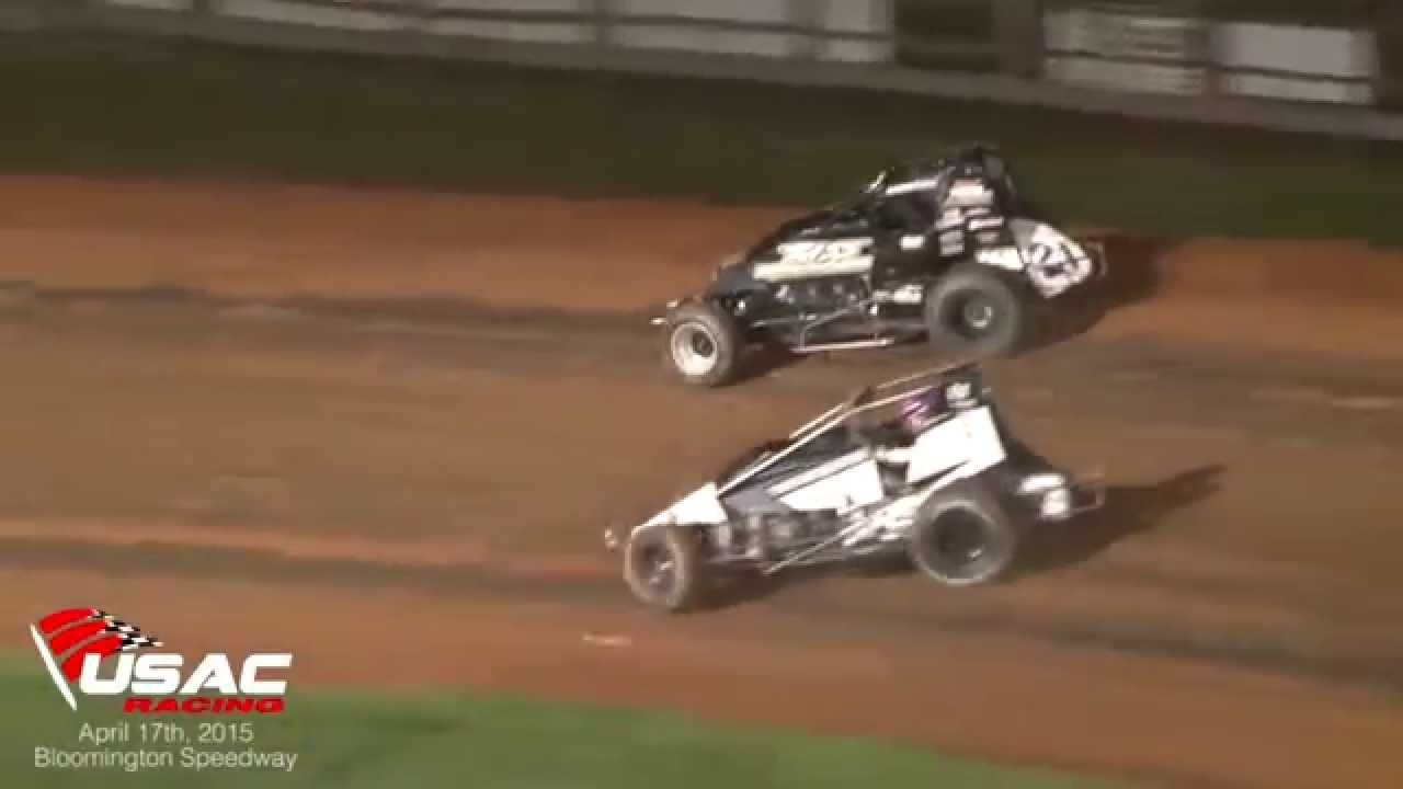 AMSOIL USAC National Sprint Cars at Bloomington Speedway 4-17-15