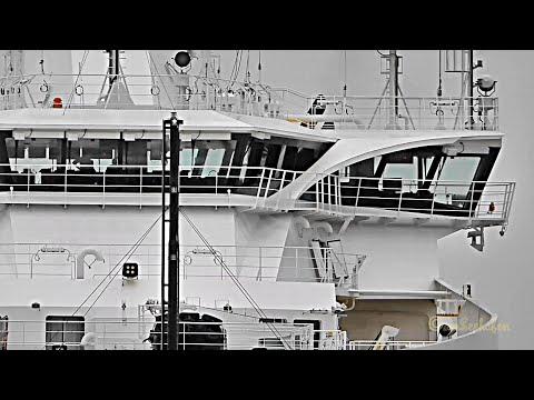 Kabelleger SEAWAY AIMERY Einlauf offshore cable layer inbound Emden MDBO2 IMO 9694737