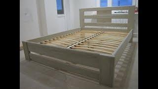 Двуспальная кровать часть - 1(В этой части видео вы увидите:частичную сборку кровати,расскажу об необычном и надежном креплении бортов..., 2016-01-24T21:08:51.000Z)