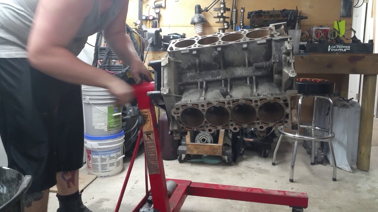 Homemade Geared Engine Stand Youtube