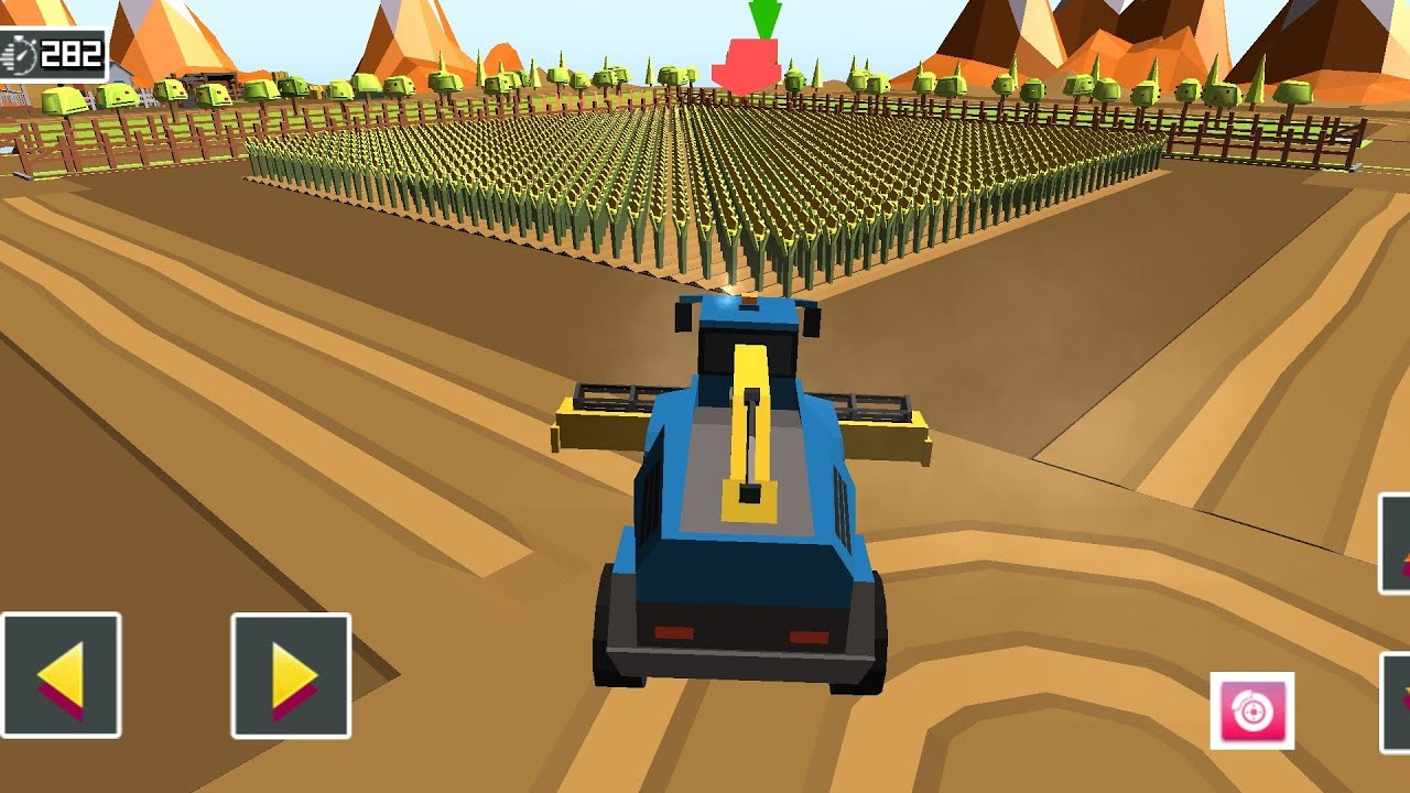 Blocky Plow Farming Harvest 2 - Harvester Cotton Culture | Andeoid / Ios | GamePlay FHD