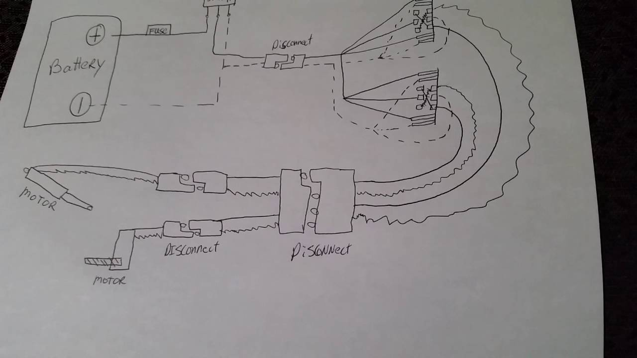 Wiring diagram for double pole double throw switches  YouTube
