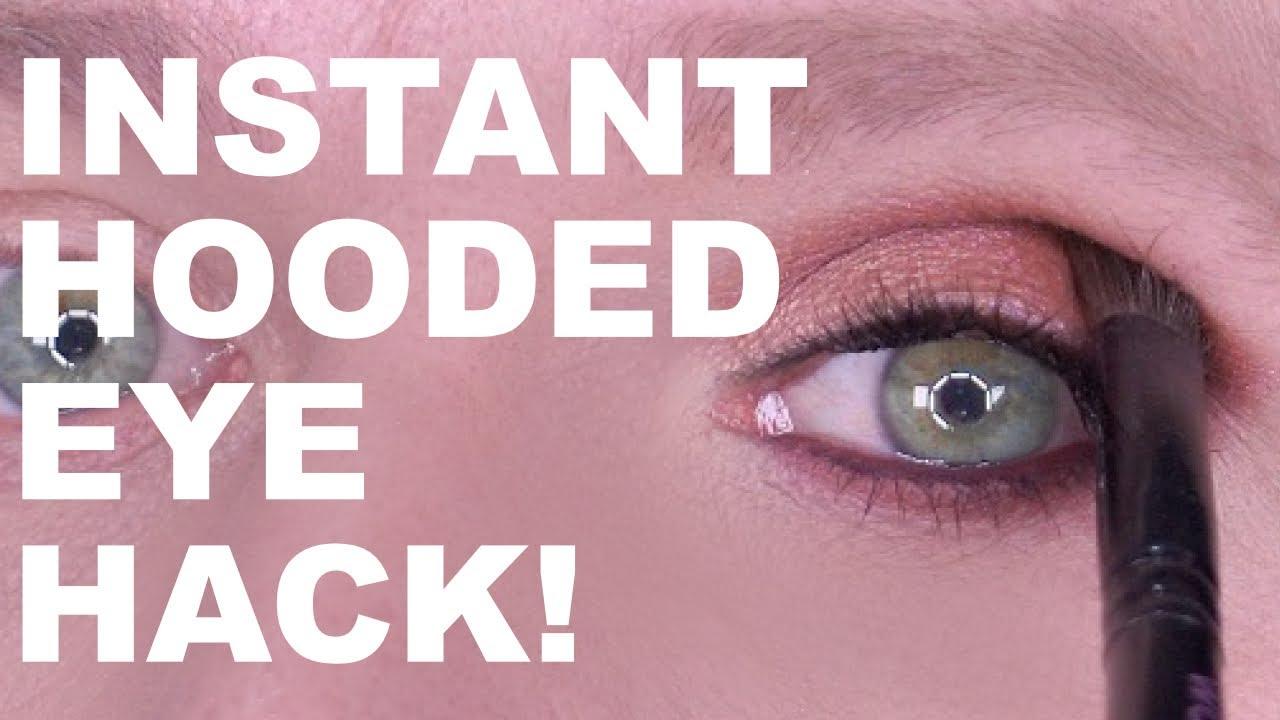 INSTANT HOODED EYE HACK!!!!