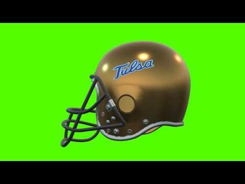 Tulsa Golden Hurricane helmet chroma