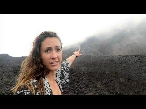 Scaling an Erupting Volcano in Guatemala!