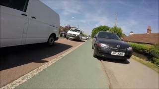 Using the cycle lane provided