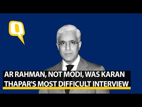 AR Rahman, Not Modi, Was聽Karan Thapar's Most Difficult Interview