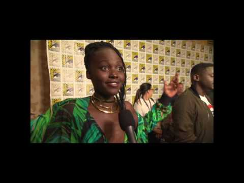 Lupita Nyong'o Interview On Black Panther Trailer and San Diego Comic Con Hall H Reaction #SDCC