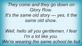Jethro Tull - Glory Row Lyrics