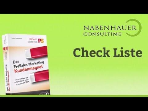 Kundenmagnet werden - Check-Listen - Der PreSales Marketing Kundenmagnet - Nabenhauer Consulting