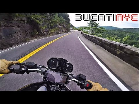 Beautiful Experience of Riding a Ducati on Route 97 - Hawk's Nest Twisties v568