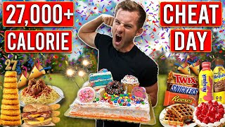 I Ate 27,000 CALORIES For My 27th BIRTHDAY!