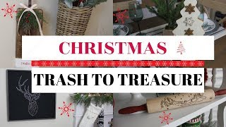 CHRISTMAS TRASH TO TREASURE/GOODWILL MAKEOVERS
