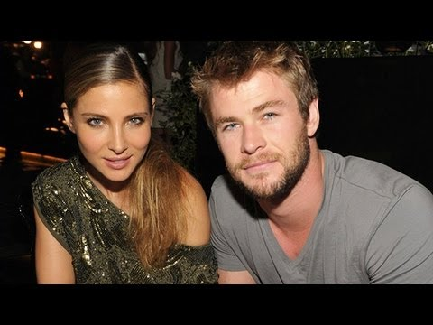 Cute Baby Kiss Wallpaper Chris Hemsworth Elsa Pataky Thor And Wife Expecting New