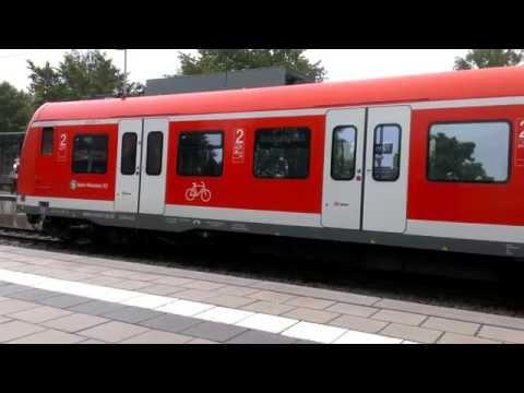 Deutsche Bahn (DB) - S Bahn (S7) Departs (Abfahrt) Furth (Munich)