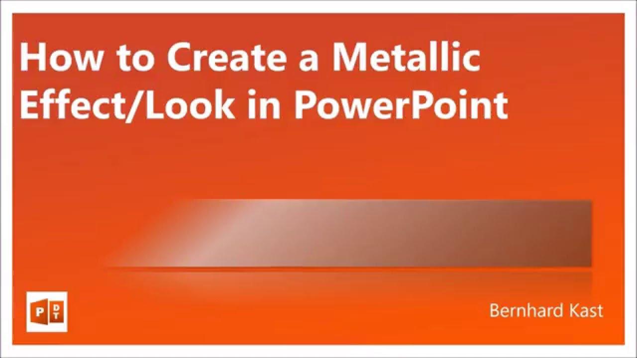 How to create Metallic Effect / Look in PowerPoint - NO texture