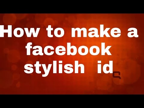 How to make a Facebook styles id
