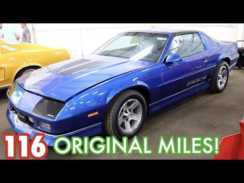 1989 Camaro IROC-Z with 116 ORIGINAL MILES!!! What did it auction for???