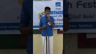 Farhan singing Neelaraavin Jaalaka Paalikal