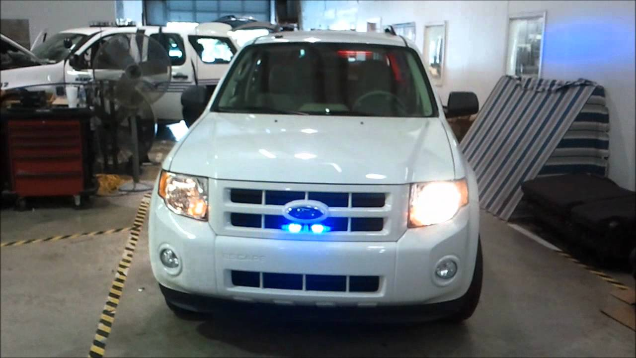 Vehicle Strobe Lights >> 2011 Ford Escape Hybrid Police - YouTube