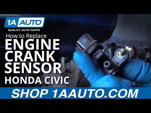 How to Replace Engine Crank Sensor 01-05 Honda Civic