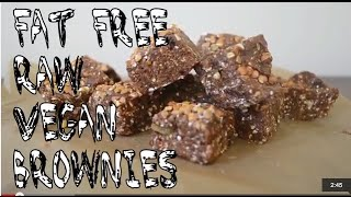 Fat Free Raw Vegan Brownies