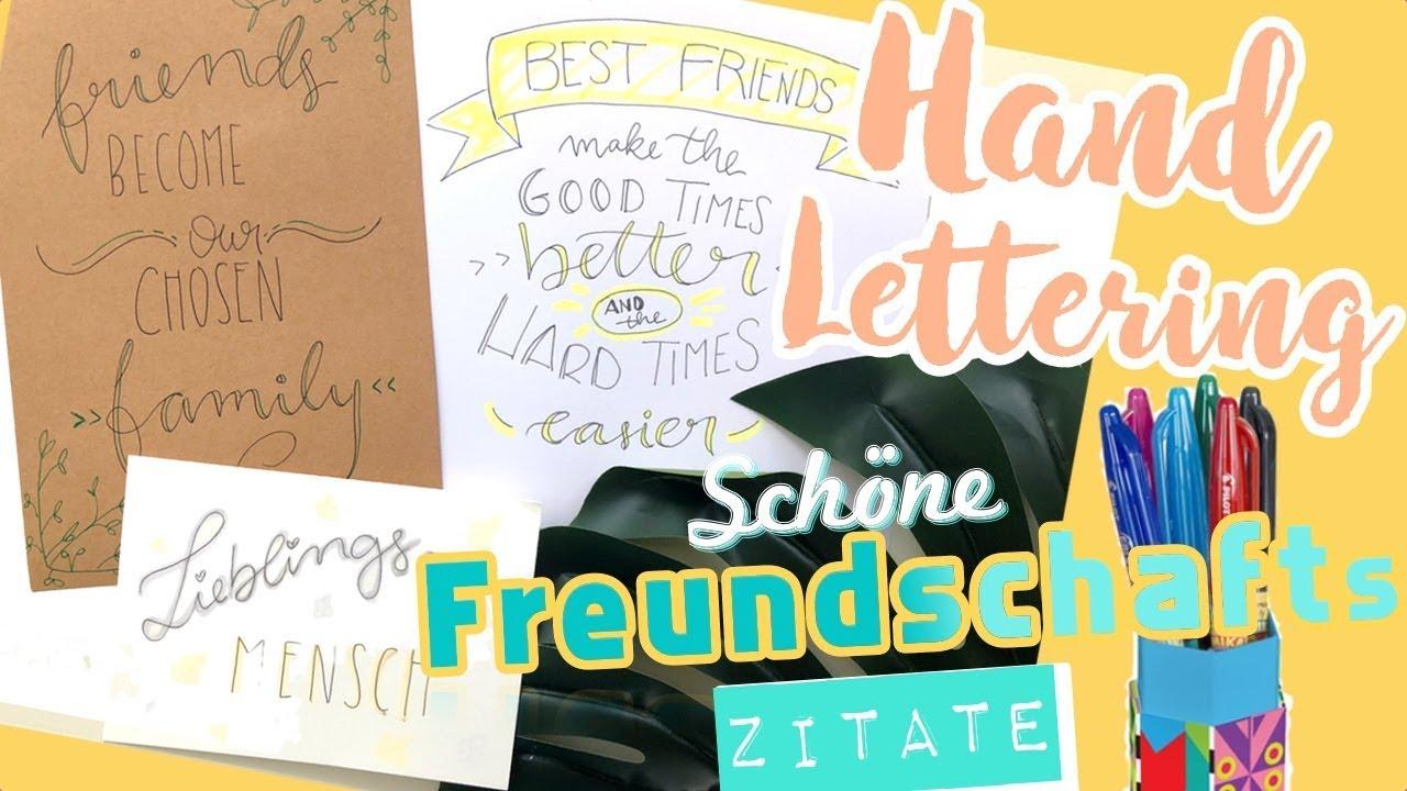Handlettering Für Freunde I Sprüche Zitate Freundschaft Letteringmitooobacht