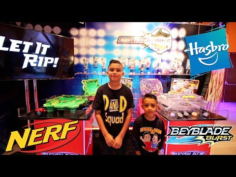 NEW BEYBLADE and NERF RIVAL at HASBRO NYC TOY FAIR 2018