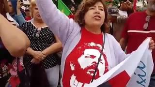 Bom dia Presidente Lula na Vigília Lula Livre em Curitiba, 245 dias de resistência